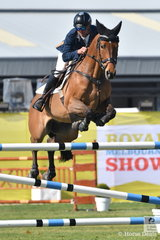 Yarra Valley horse dentist, James Harvey rode his and Des Russell's, imported Tyrone VDL to second place in the Group B jumping contest.