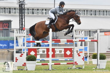 Erin Buswell rode her wonderful imported, 'Quero Quero' to take sixth place in the Mini Prix today.