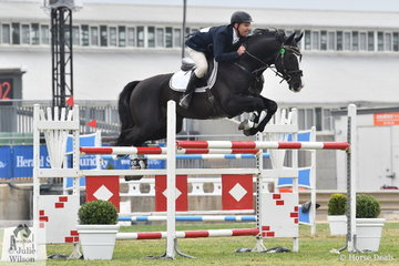 Successful Victorian professional rider, Russell Johnstone rode Gregor and Sandra McCann's imported stallion, 'Dondersteen' to third place in the strong Mini Prix today.