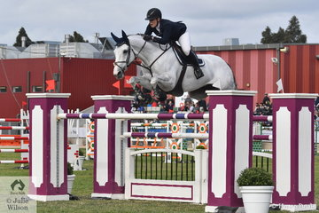 What a debut. First out in her first ever World Cup Qualifier, Melissa Blair from NSW posted a super clear aboard her imported Zirocco Blue mare, 'Zidora'. Clear until the very last fence in the second round they finished in a very creditable fifth place.