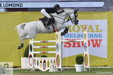 Katie Lawrie jumped four and clear aboard the typey Lansing stallion, 'Casebrook Lomond' for third place in the 2018 Melbourne Royal World Cup Qualifier.