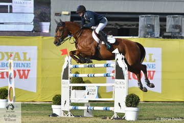 Successful Queensland rider, Merrick Ubank jumped four and four aboard his Alimo gelding, 'Alantinus' to take ninth place in the Melbourne Royal World Cup Qualifier.