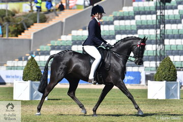 The Monrose Park nomination, 'Monrose Park Playforleigh' by Royalwood Boy Soprano and ridden by Jess Dalgleish took fourth place in the classes for Novice and  Pony 13.2-14hh.