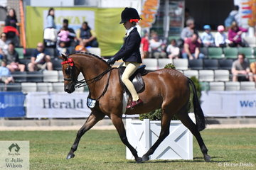 The unstoppable Annabelle Richardson rode her mother, Emma's super, 'Harrington Park Symphony' to win the class for Open Pony 12-12.2hh.