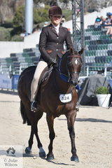 Rebecca gerber rode her super Show Hunter Pony, 'Loriot Breaking Dawn' to win the class for Show Hunter Pony Gelding 12.2-14hh and then rode away with the Large Show Hunter Pony Reserve Championship.
