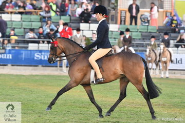 Tahlia Young rode Gerg Gerry and Darren Telford's beautiful, 'Whitmere Ethereal' (Turberry Tom Kitten/LJS Heavens Above) to win the class for Show Pony Mare 12.2-14hh and go on to be declared Reserve Champion Large Pony.