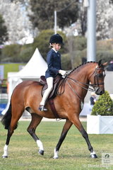 Zhoe Willison rode 'Cimeron Poprock' to take fifth place in the Pony Turnout 12.2-14hh.