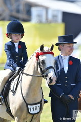 Maddison Borthwick rode Christine Bowers', Picturesque Prince' to take fifth place in the class for leading Rein Pony 12hh and Under.