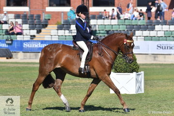 Olivia Carter rode well to win the class for Rider 8-10 Years.
