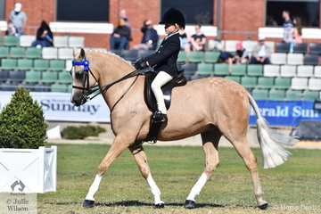 Chase Jackson from Queensland is having a successful 2018 Royal Melbourne Show and today won the class for Junior Rider 6-8 Years.