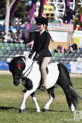 Kate Kyros rode Chris Lawrie and Anne Lindh's, 'Lentara Harveston' to win the class for Ridden Shetland 10-10.2hh and go on to take out the Ridden Shetland Reserve Championship.
