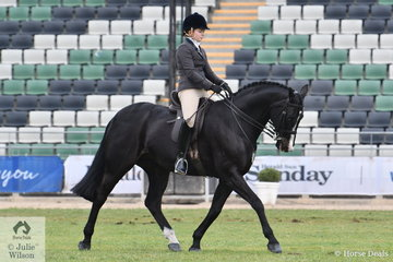Georgia Grenwell rode her well performed Rotspon gelding, 'Rotsdom' to win the class for Open Show Hunter 15-15.2hh.