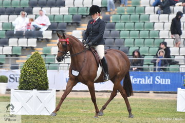 Briony Payne rode Judy Ivory's, 'KP Simply Exquisite' to take second place in the class for Galloway Mare 14-15hh.