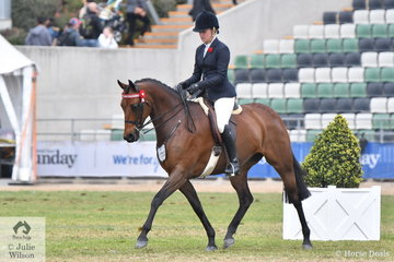 Kelsea Bullivant's, 'Warrawee Double Edition' took fifth place in the class for Galloway Mare 14-15hh.