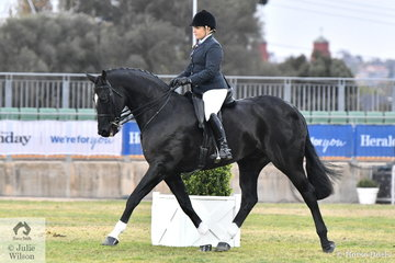 Abby Lovell from Queensland rode her super, 'Divavalli Royal Rory' by Royal Rubin (imp) to win the class for Open Show Hunter 15.2-16hh.
