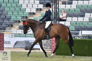 Mikayla Scott rode , 'Puccini' to win the class for Novice Hack 15.2-16hh.