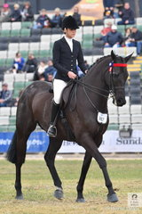 Courtney Christie rode her mother, Francesca Christie's, 'SLM Empire' to take third place in the class for Open Hack Over 16.2hh.