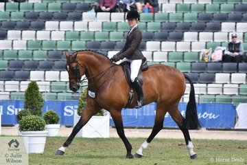 Jess Stones rode Matilda Longbottom's, 'Powerplay' to take third place in the very strong Providence Cup competition for Show Hunters Over 14hh.