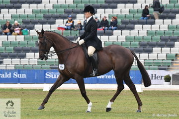 Police officer, Rebecca Phillips rode , 'Fire To The Rain' in the Garryowen. Later in the day this combination took second place in the Esquire Turnout.