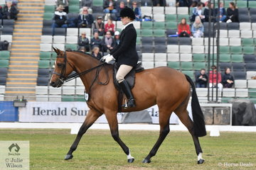Scool teacher, Laura Pankhurt rode, 'Centre Stage' to fifth place in the Lithgow Equestrienne Turnout class for Ladies 18-26 years.