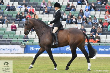 Jemma Heran from Queensland rode Rebecca Crane's Melbourne Royal Champion Show Hunter, 'Federer' to take fifth place in the Garryowen.