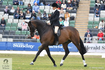 Rebecca Farrow has been in the Garryowen Turnout class 15 times and last won in 2002. She has been placed many times and today produced the outstanding workout riding her 'Stage Presence' to claim the famous and prestigious Turnout class for the second time.