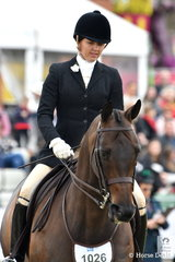 Kelsey Bennett is pictured aboard her, 'Undermine' during the Garryowen Equestrian turnout.