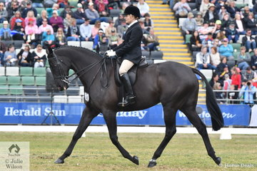 Jemima Draper rode, 'Da Vinci Code' to fourth place in the Garryowen and backed that up with third place in the Esquire Equestrienne Turnout class.