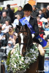 Elegance and great riding won the day and Garryowen winner, Rebecca Farrow is pictured aboard her 'Stage Presence' during their victory lap of honour.