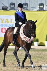 Michelle Paynter rode her, 'DP Amazing' to win the Esquire Equestrienne Turnout for Ladies Over 18 Years. The difference between the Esquire and the Garryowen is that in the Esquire, the competitors must own their own horse, or it must be the property of their immediate family.