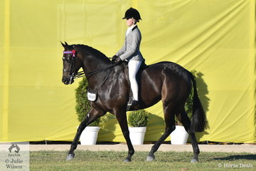 At the end of a long day, Daizi Plumb won the class for Intermediate Rider 15 Years and went on to be declared Reserve Champion Rider 15-18 Years.
