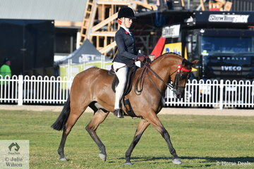 Izabella McIntyre , another rider to have a successful show, took second place in the class for Rider 16-18years.