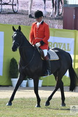 Representing the Oaklands Hunt Club, Darren Green rode is former eventer, 'Gravitas' to fourth place in the class for Heavyweight Hunter Show In Saddle.