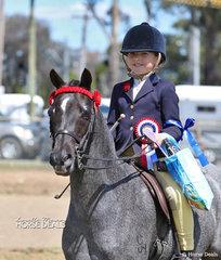 Elsie Rieger was declared Champion Junior Rider under 12 years.