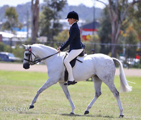 """Sallie Williams and """"Keiron Prima Ballerina"""" were class winners in the breed ring."""