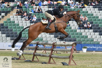 Stephen Stacey representing the Oaklands Hunt Club rode his 'Bellhaven Atticus' to fifth place in the Noel Mason Memorial Hunter's Plate.