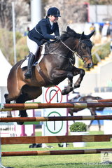 New Zealand rider, Samantha Morrison rode her own Corfu in the Group C class.