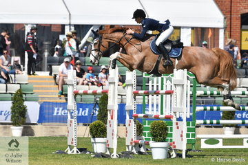Kristie Ansell from Queensland rode Balou for four faults in the John Kelly Memorial Group One.