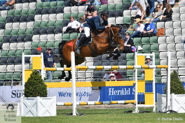 Andrew Lamb jumped a double clear round riding his, CP Argento for fourth place in the John Kelly Memorial Group One.