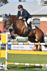 Paul Brent riding Neil Clinton's, Cavalli Park Aliyan posted a double clear for fifth place  in the Colin Kelly Memorial Group B contest.