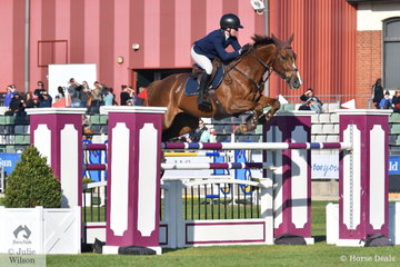 Twenty two year old, Laura Sloey jumped clear and four riding her Copabella Cashmir in the Colin Kelly Memorial Group B contest.