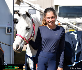 At their first Interschool Nationals, Holly Burges and her pony Beddgelert Castaway are ecstatic to be representing team New South Wales.