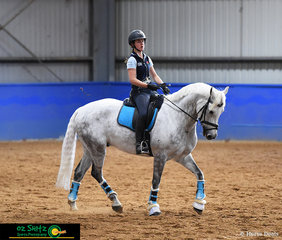 Getting ready to put their best foot forward for the big week of competition was Paige Gready and her horse CSU Lyrebird.