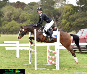 Competing in the Secondary 80cm Combined Training with her super pony was Ashley Cutler and Le Flirteur Tradition riding for New South Wales.