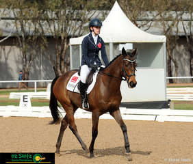 First out to complete the dressage phase of the Secondary 60cm Combined Training was Bella Corner and her horse Image Fun n Games representing South Australia.
