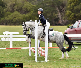 After sailing across Bass Straight Ava Walker and Shanameer Top Note competed in the Primary 45cm Combined Training at the National Equestrain Centre in Weribee.