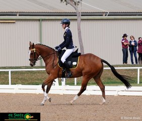 Making easy work of the EvA80 dressage phase was a Western Australian duo Jaime Baker and Bling It To Me.