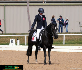 Chelsea Clarke and Mighty Murphy complete the first phase of the EvA80 with ease in the dressage arena riding for South Australia.