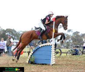 Queensland rider, Saskia Hind navigated Sunshine Boy through the CNC One Star water complex at the National Equestrian Centre during the Interschool National Championships.