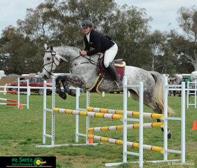 Representing Queensland in the EvA95 was Georgia Fenton and she rode Cushavon Bella to perfection in the show jumping phase of the eventing.